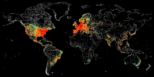 This World Map Shows Every Device Connected To The Internet