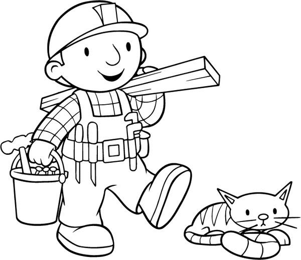 PARA COLOREAR: Bob el constructor para colorear-Bob the builder