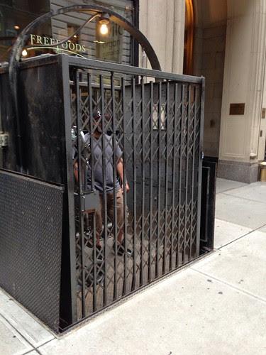 Street elevator, NYC