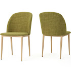 Christopher Knight Home Annabel Fabric Dining Chairs - Set of 2, Green