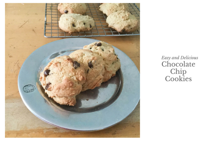 Easy Chocolate Chip Cookies with Dark Chocolate Chips