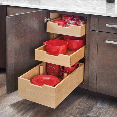 Rev-A-Shelf Tall Drawer with Dividers for 24 inch Cabinet ...