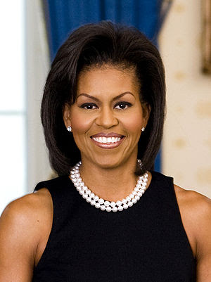 Michelle Obama, official White House portrait.