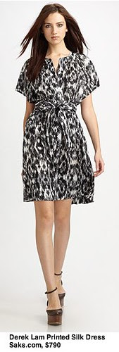 Saks.com - Derek Lam - Printed Silk Gathered Dress