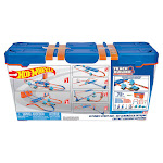 Hot Wheels Track Builder Ultimate Stunt Box 75+ Pieces w/6 Cars