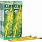 Ticonderoga Wood-Cased Graphite Pencils, 2 HB Soft, Yellow, 96 Count (13872)