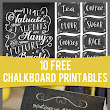 "We're ""Chalk"" Full! 10 Free Chalkboard Art Printables 