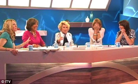 The Loose Women ladies lay into actor Russell Crowe and guest Joan Rivers calls him a 's**t' on live TV
