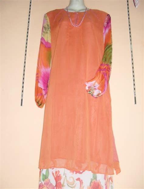 zana collection baju kurung moden rona oren