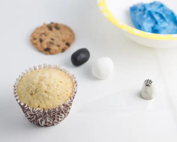 Cupcake monstruo de las galletas ingredientes