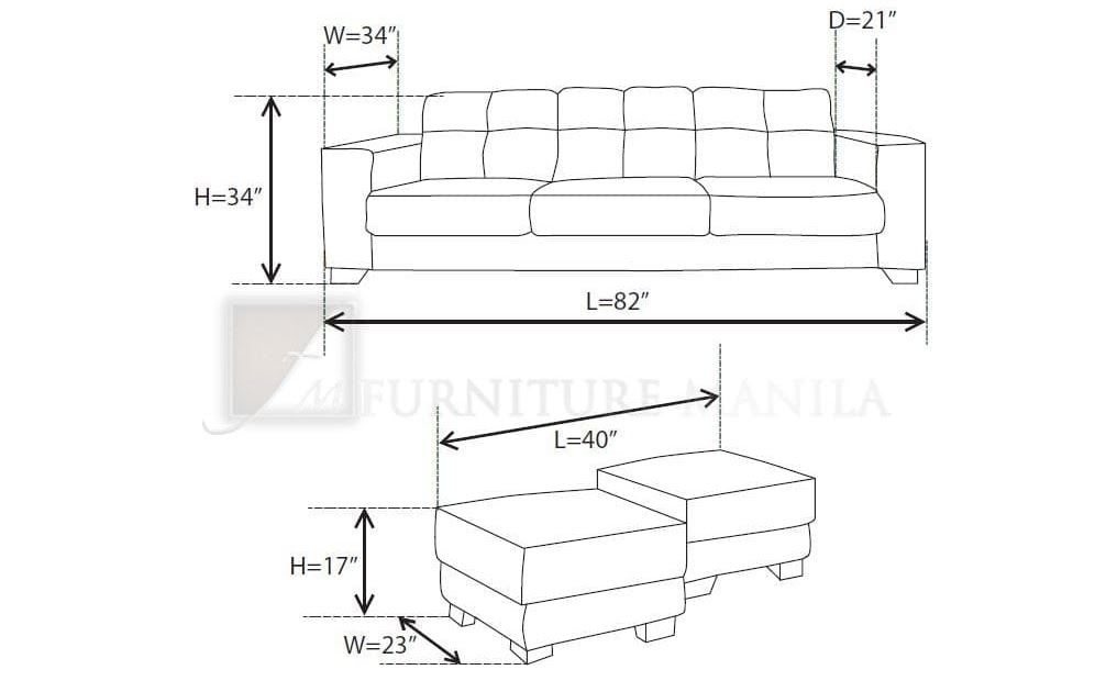 2 seater couch dimensions