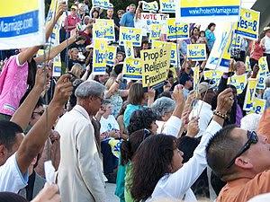 Rally for Prop 8 in Fresno, California