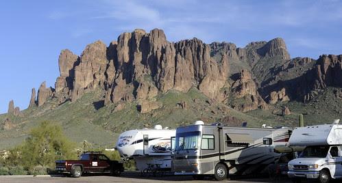 Campsite at Lost Dutchman State Park, Arizona by RV Bob