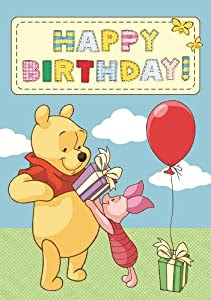 Winnie The Pooh Happy Birthday Card: Amazon.co.uk: Kitchen ...