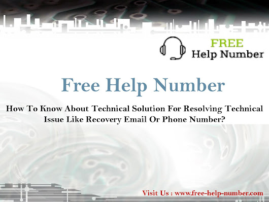 How to know about technical solution for resolving technical issue like recovery email or phone numb