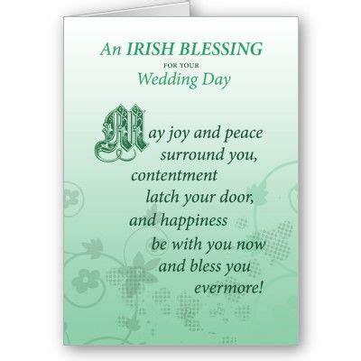 Irish Wedding Blessing Congratulations Card   Zazzle.com