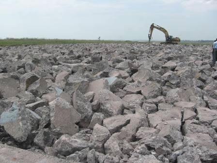 Demolition of runway at Kinshasa Ndjili International May 2009