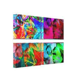 Fall Leaves:Special Effects 4 Panel Wrapped Canvas wrappedcanvas