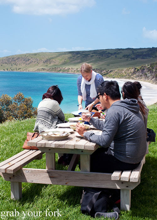 Lunch with a stunning view on Kangaroo Island