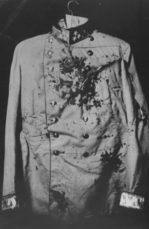 itsjohnsen:  The bloodstained coat of the Archduke Franz Ferdinand, assassinated in 1914, triggering the First World War. Getty