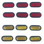 C Accessories Stick - on Reflectors, Size: One Size 1312