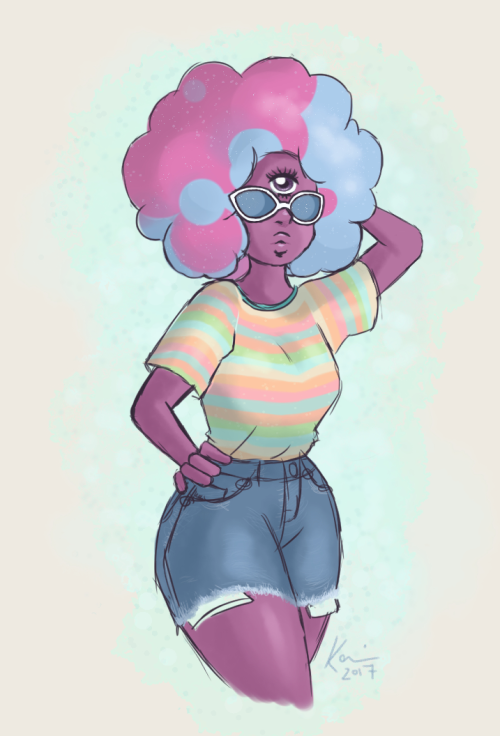 xtrneous said: HI HELLO you should draw garnet in E3 if you want that would be super cool Answer: I thought cotton candy garnet would look cutest in this 💖
