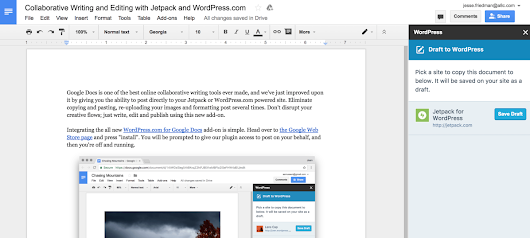 Collaborative Writing for WordPress with Google Docs