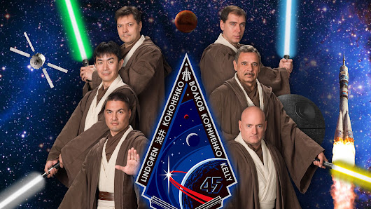 These astronauts just dressed like Jedi for their official portrait