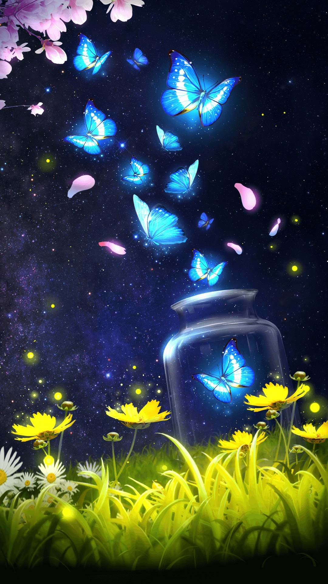 Blue Butterfly Wallpapers (76+ background pictures)