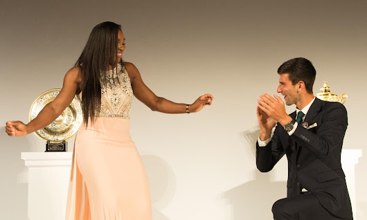 Foot faults all round as Serena and Djokovic's dancing crosses the line