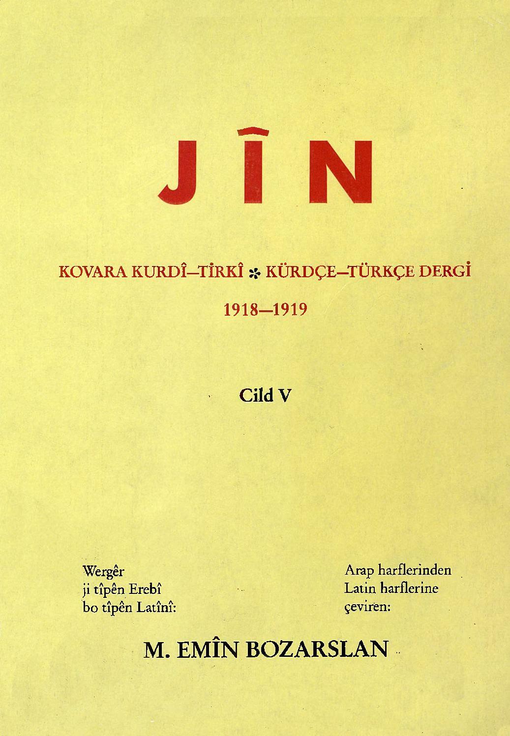 Calaméo Jîn Cild 5 Kovara Kurdî Tirkî Kürdçe Türkçe Dergi