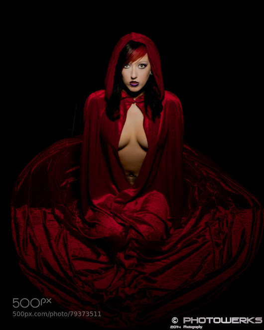 Red Cloaked Woman