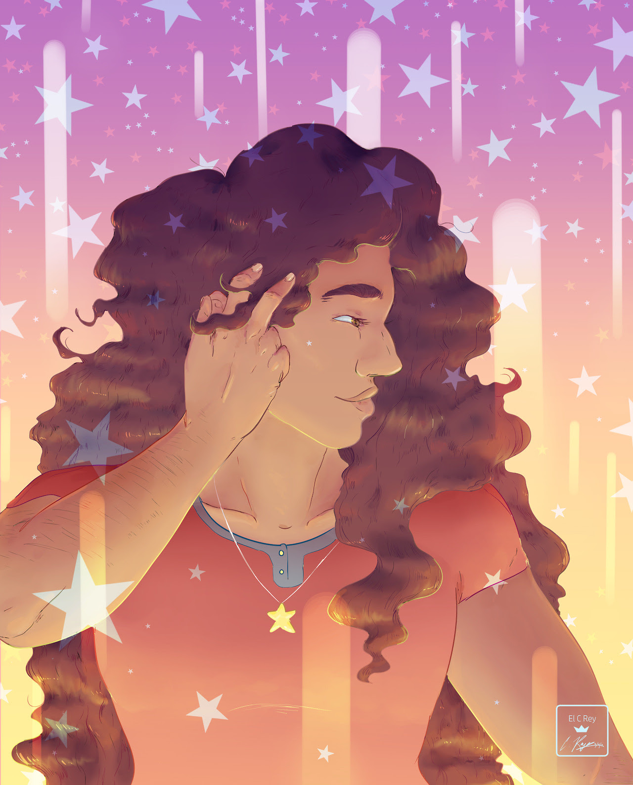 """""""Starlight"""" Digital Illustration; Stevonnie from Steven Universe. -C.Reyes (El C Rey); 051817 (Will be available as a print on my storenvy soon!)"""