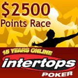 Intertops Poker Frequent Player Points Leaderboard Race and Free Roll Tournament Reload Deposit Bonus