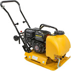 Stark 6.5HP Gas Vibration Compaction Force Plate Compactor Construction 4000lbs Force w/ Water Tank, Yellow