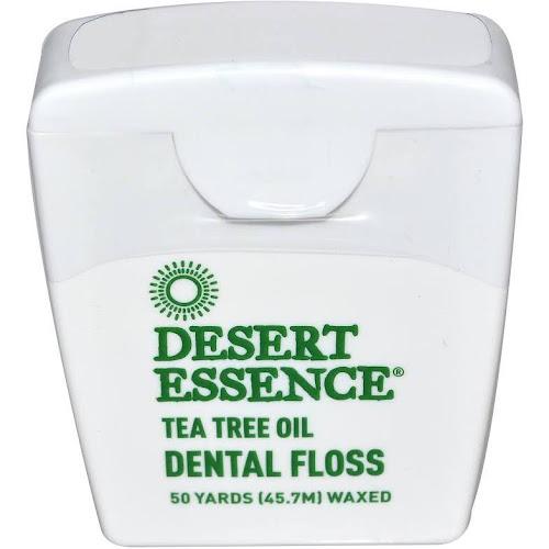 Desert Essence Tea Tree Oil Dental Floss, Waxed - 50 yds