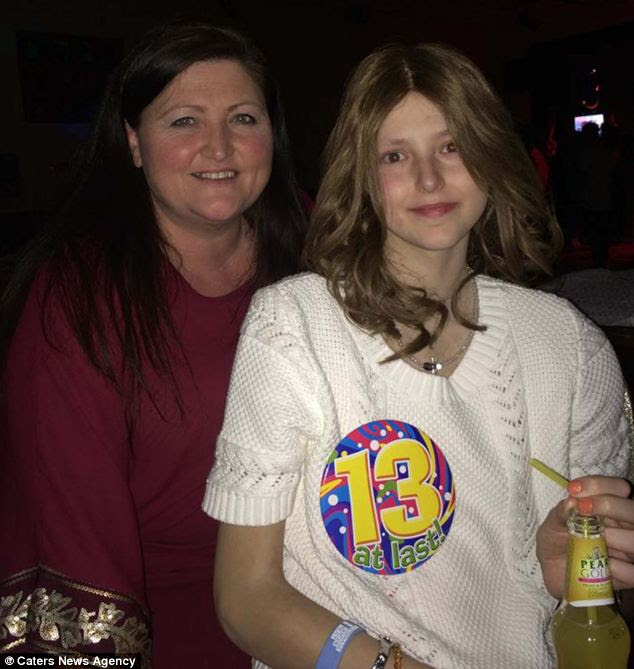 A picture shows Athena's 13th birthday - which she celebrated shortly before she died