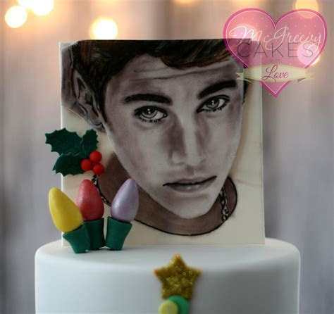 Justin Bieber Christmas Cake, With Painting Tutorial