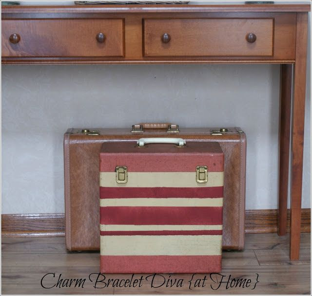 Charm Bracelet Diva {at Home}: DIY Painted Vintage Suitcase