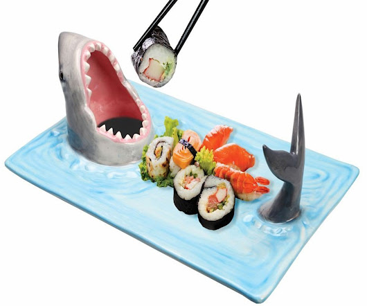 Shark Attack Sushi Serving Platter » COOL SH*T i BUY