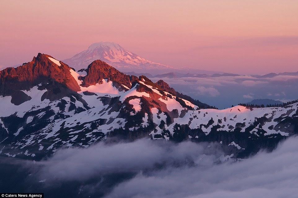 «Neige et la glace se transforme parcs nationaux, les refuges fauniques et d'autres terres publiques dans un pays des merveilles, dit le ministère. Sur la photo: Washington