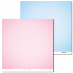 Papier 30x30 cm - Pink and Blue JOY - 03 - Laserowe LOVE