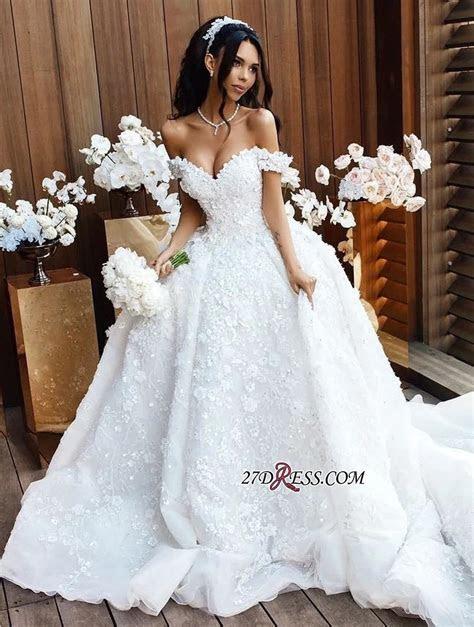 Elegant Off the Shoulder 2019 Wedding Dresses   Princess