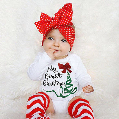 My First Christmas Baby Romper Modern Motherly