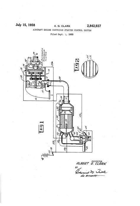 Patent US2842937 - Aircraft engine cartridge starter