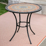 Belham Living Solita Mosaic 30 in. Round Outdoor Bistro Table
