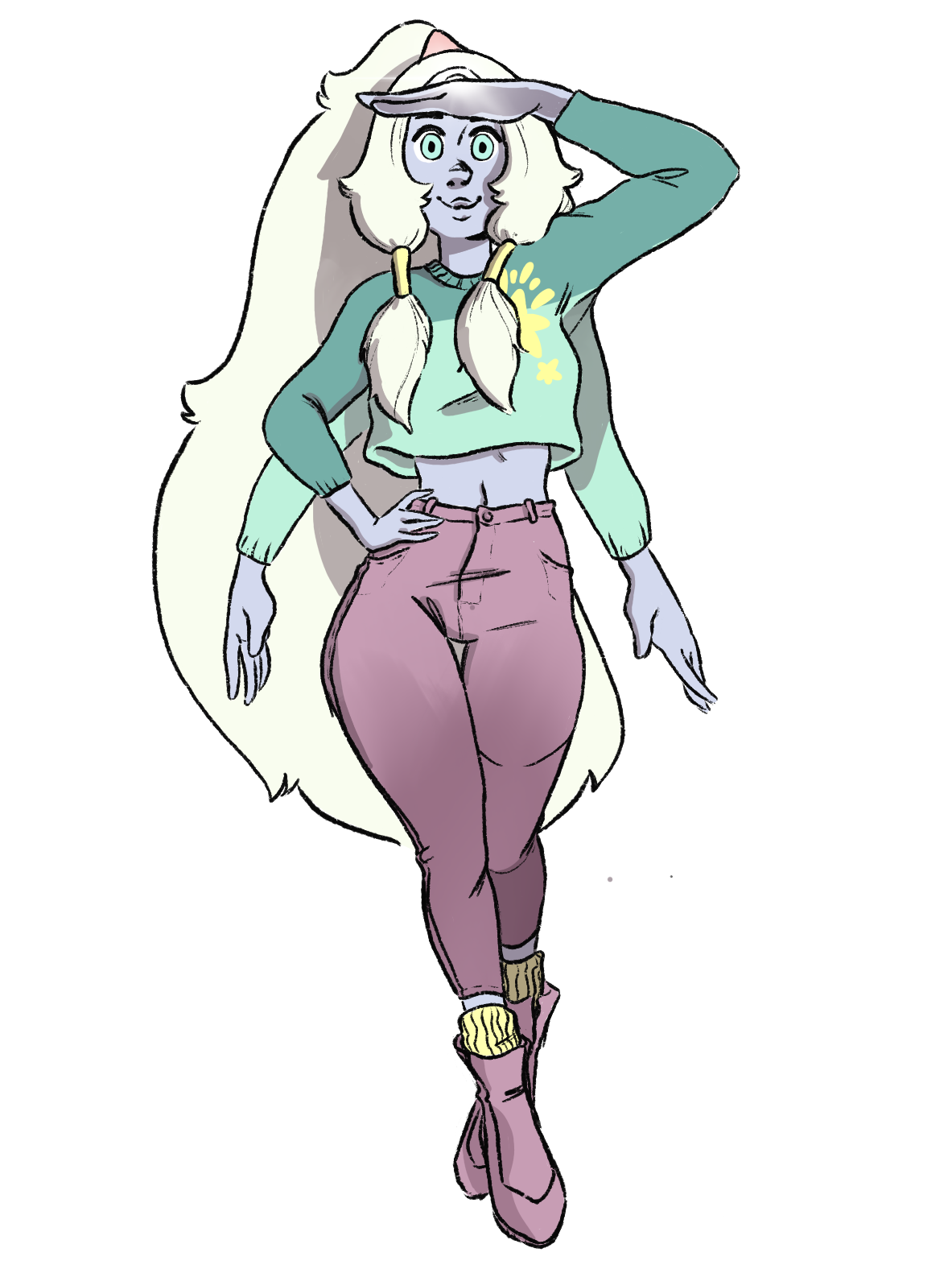 Opal in a snazzy outfit cause why noooot