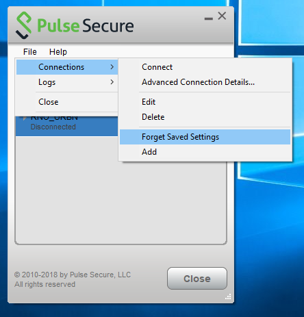 Pulse Secure Client - Invalid or Missing Certificate
