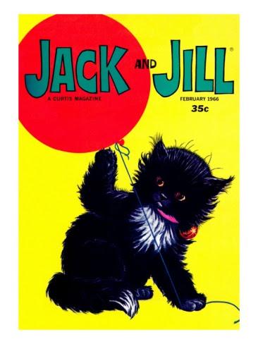 """Jack and Jill"" magazine cover, February 1966 (by Edward Cortese)"