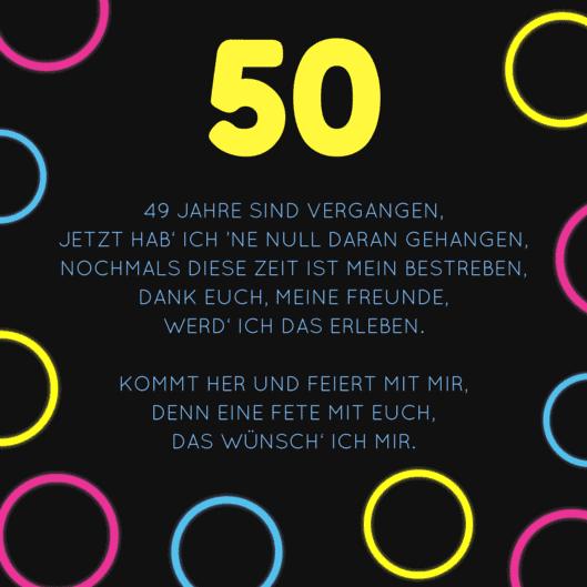 Geburtstagssprüche Für 50 Jährigen Mann
